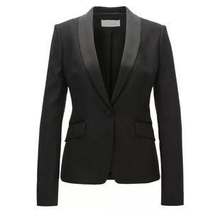 Boss Jivuna Tuxedo Style One Button Wool Blazer